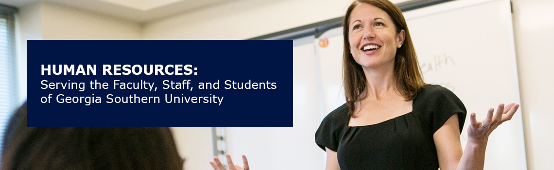 Human Resources: Serving the Faculty, Staff and Students of Georgia Southern University