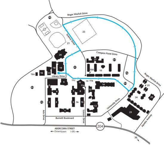 map of Armstrong Walking Trail